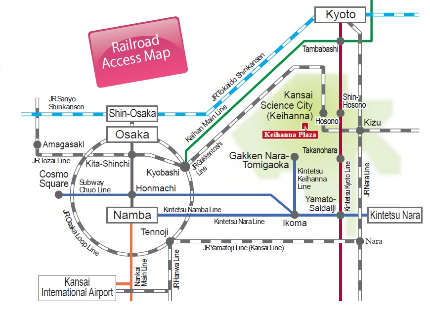 Keihanna Science City Rail Map